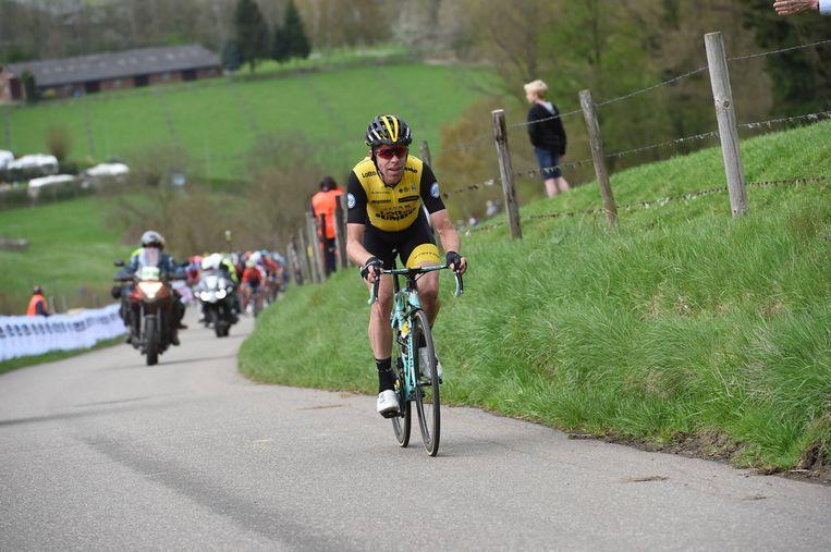 Bram Tankink tijdens de 52ste editie van de Amstel Gold Race. 15 april 2018. Beeld Hollandse Hoogte / VI Images