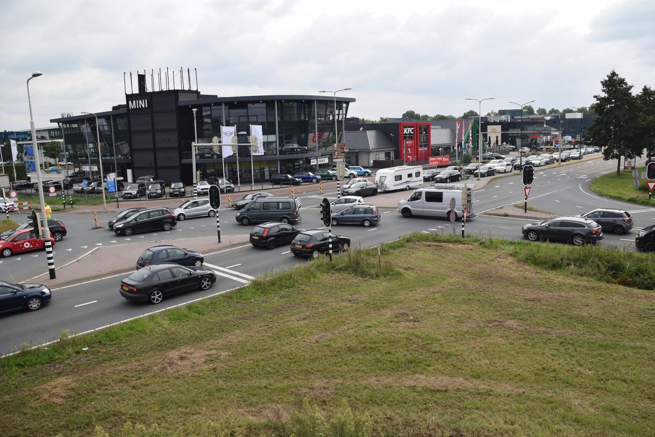 Verkeerschaos in Veenendaal.