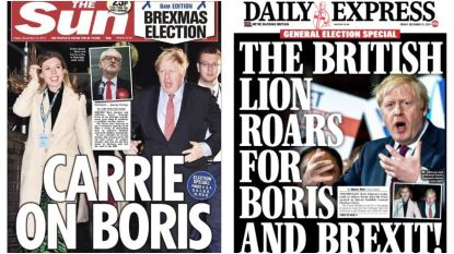 'Nightmare before Christmas' vs. 'Britse leeuw brult voor Boris': vreugde en verdriet spat van Britse voorpagina's