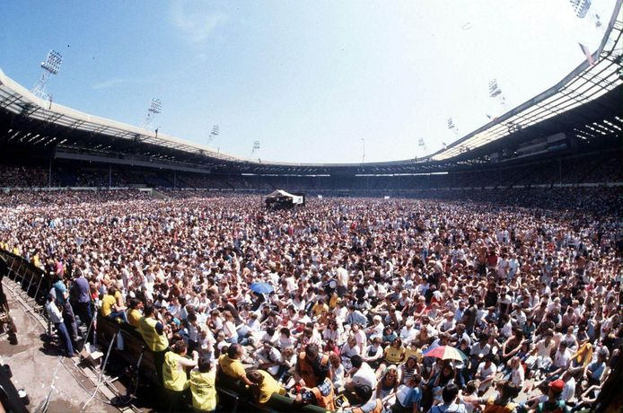Live Aid in Wembley.
