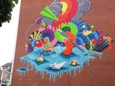 Daar is 'ie dan: nieuwe graffitikunst in de binnenstad