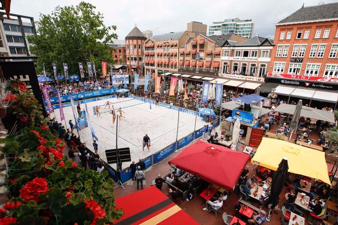 In 2018 was de Markt in Eindhoven al het decor van de Dela Eredivisie Beach.