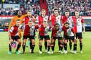 Feyenoord voorafgaand aan de derde ronde van de Europa League kwalificaties tegen AS Trencin.