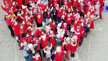 Vandaag is rood...de kleur van Leefschool  Groene Poortje