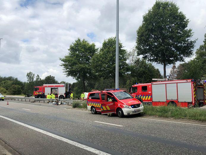 Het ongeval gebeurde op de Houtlaan in Wijnegem.