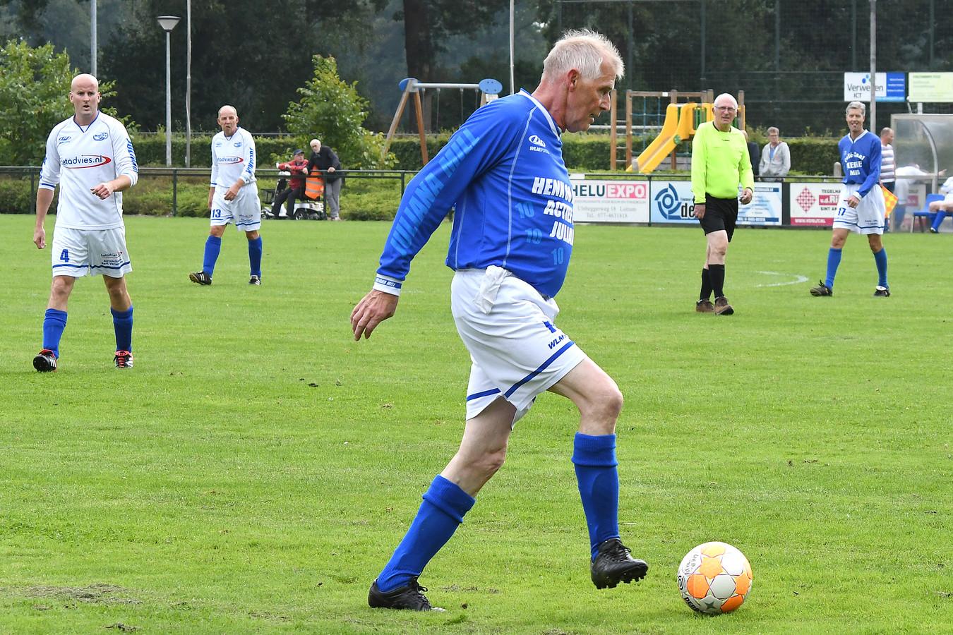 Henk de Hoog in actie.
