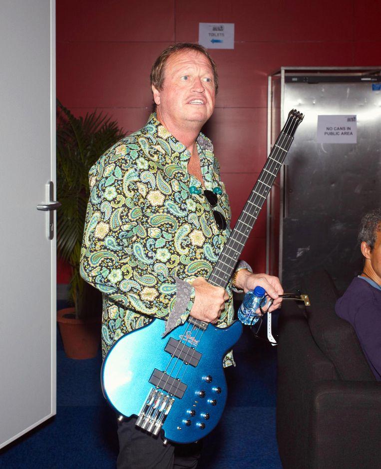 Mark King, bassist en zanger van de Britse jazz-funkband Level 42. Beeld Daniel Cohen