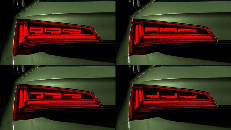 Een Audi-lichtshow Beeld