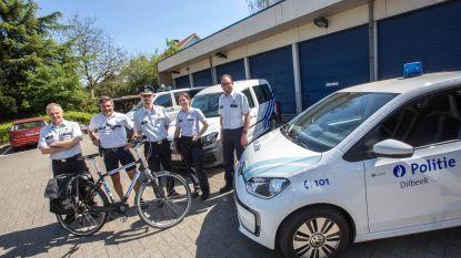 Wijkdienst lokale politie rijdt ecologisch