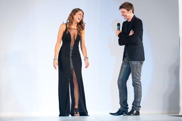 Tijdens een modeshow in 2012.