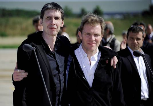 Hervé Ghesquière et Stéphane Taponier, libérés le 29 juin 2011 après 547 jours de captivité