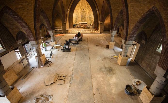 De verbouwing in de Andreas en Antonius van Paduakerk.