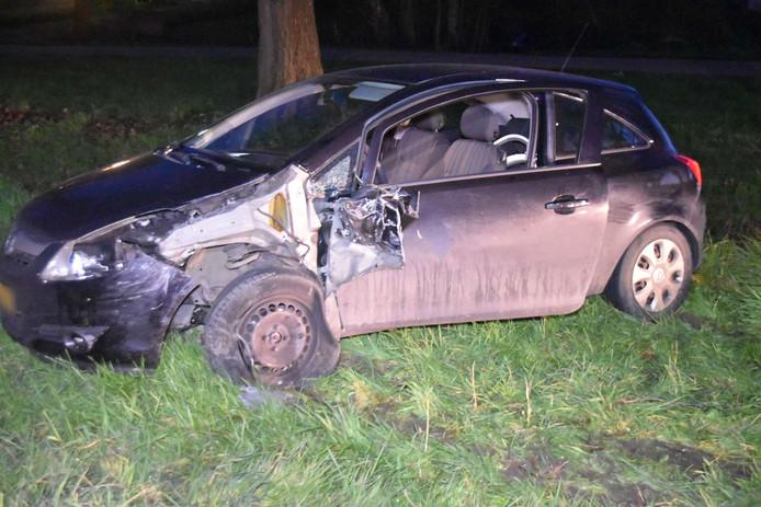 Ongeluk op de Van Heemstraweg in Zuilichem.