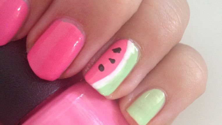 Uitgelezene Manicure Maandag: zomerse watermeloen-nail art voor beginners QT-52