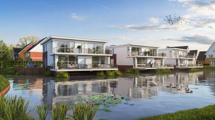 Bijzondere woningen met hun 'gezicht' naar het water, park of landschap, zoals in park Waterrijk in Hekelingen, worden geadviseerd voor de stadsranden.