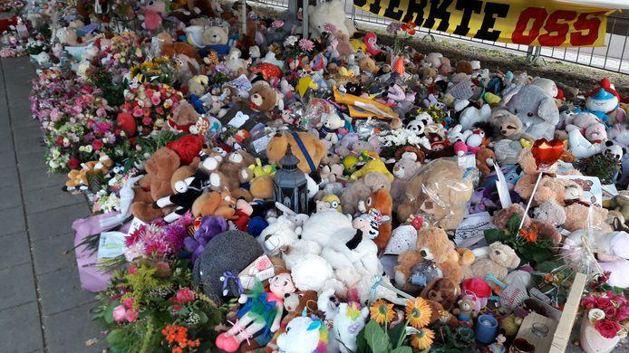 Vele honderden knuffels vormen het belangrijkste deel van de gedenkplek bij Oss-West.