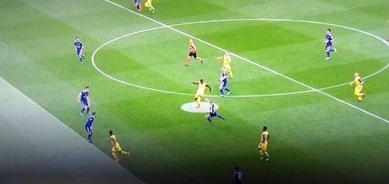 De fase in PO1 van vorig seizoen, toen de goal van Diaby in Anderlecht - Club wel afgekeurd werd na een ingreep van de VAR.