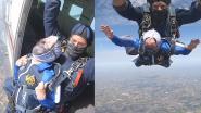 Nooit te oud om je dromen waar te maken: Jacqueline (90) springt uit vliegtuig