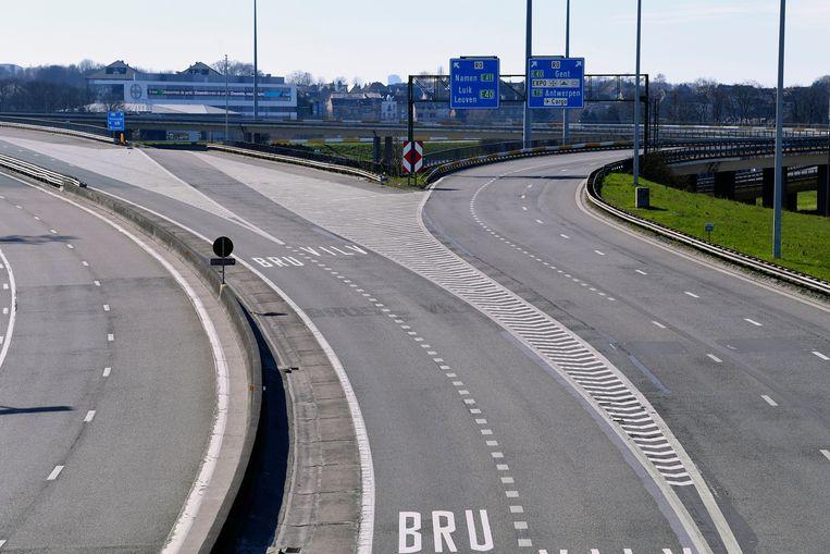 Amper verkeer op de Brusselse ring.