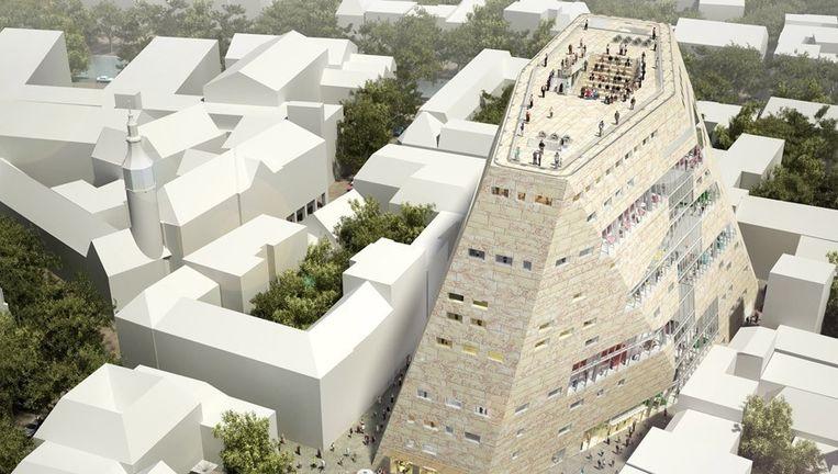 Het Groninger Forum komt er zo uit te zien Beeld NL Architecten