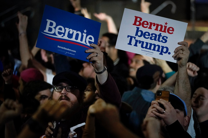Aanhangers van Bernie Sanders