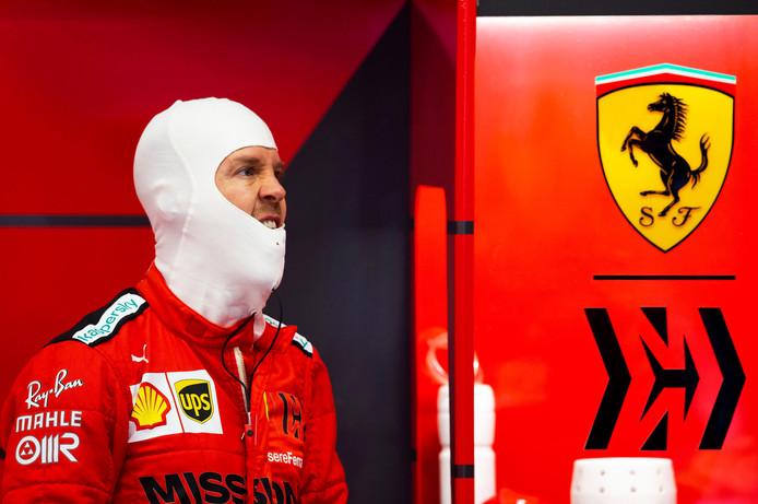 Sebastian Vettel, de Duitse coureur van Ferrari.