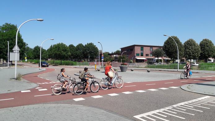Wat is de meest onveilige plek voor fietsers in Zwolle? Op de foto de oversteek op de Werkerlaan in Stadshagen.