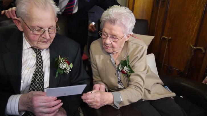 In voor- en tegenspoed: Arend (101) & Aaltje (99) zijn 80 jaar getrouwd