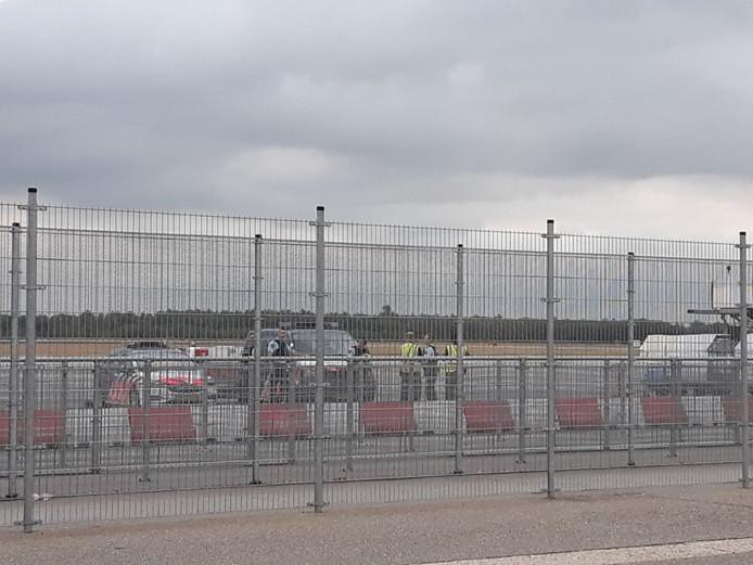 Hulpdiensten op Eindhoven Airport.