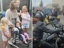 Grote jongens van de Harley-club sparen bierdopjes voor klein, gehandicapt meisje (2) uit Zwolle