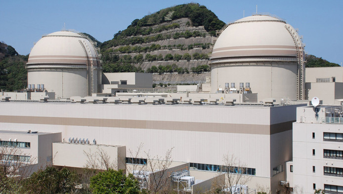 De derde en vierde reactor van het kernenergiecomplex in het Japanse Ohi.