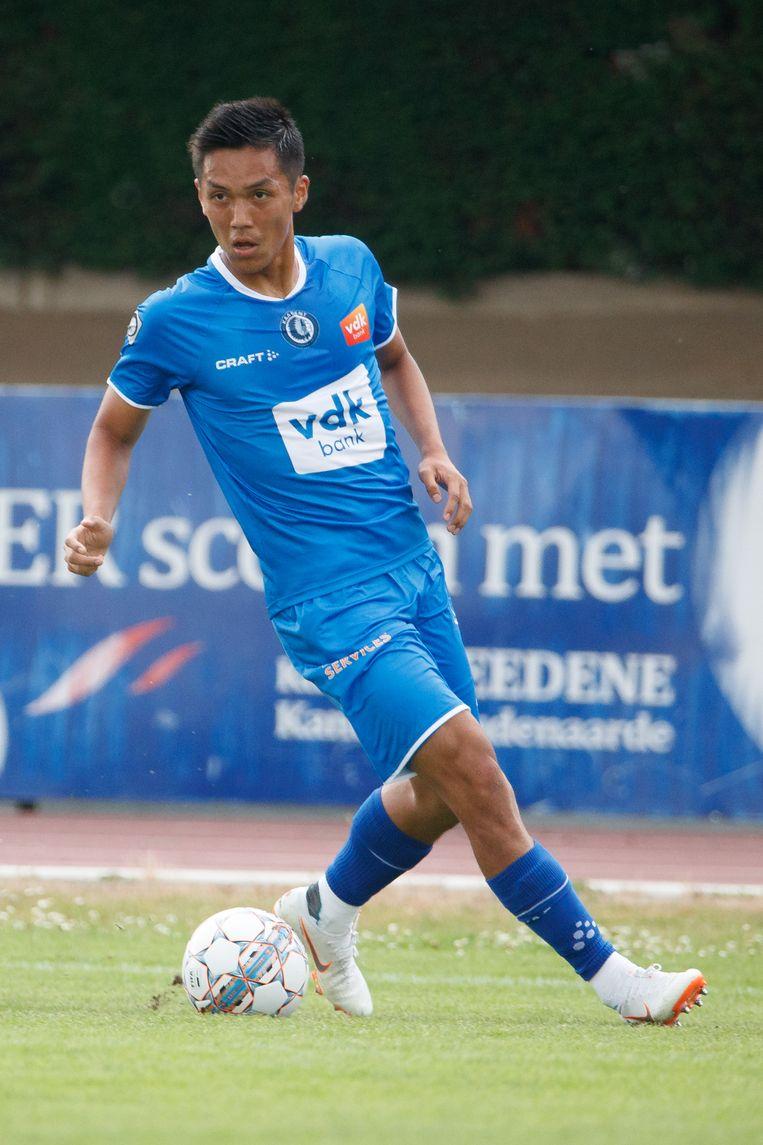 Yuya Kubo scoorde vanop de stip voor AA Gent.