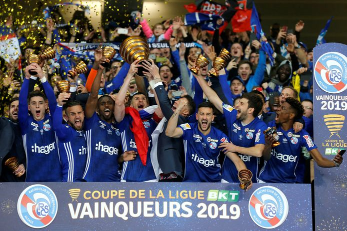 Strasbourg gaat de boeken in als de voorlopig laatste winnaar van de Coupe de la Ligue.