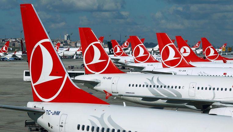 Archiefbeeld: vliegtuigen van Turkish Airlines in Istanboel.