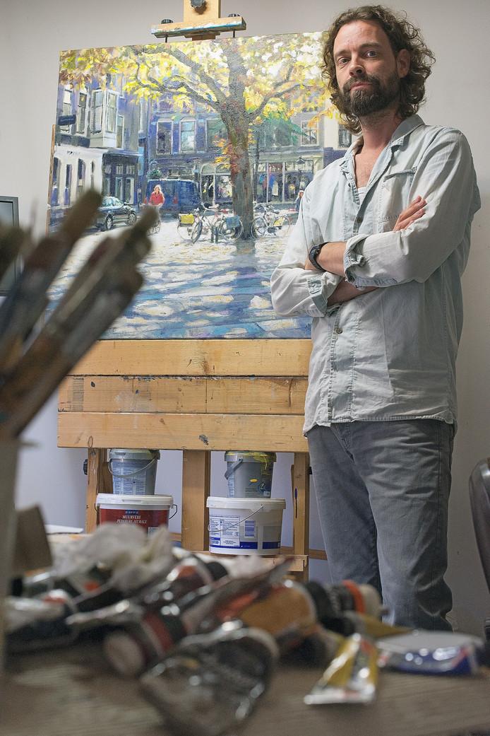 Richard van Mensvoort, in 1972 geboren in Vlijmen maar woonachtig in Megen, maakt olieverfschilderijen die het midden houden tussen impressionistisch en realistisch.