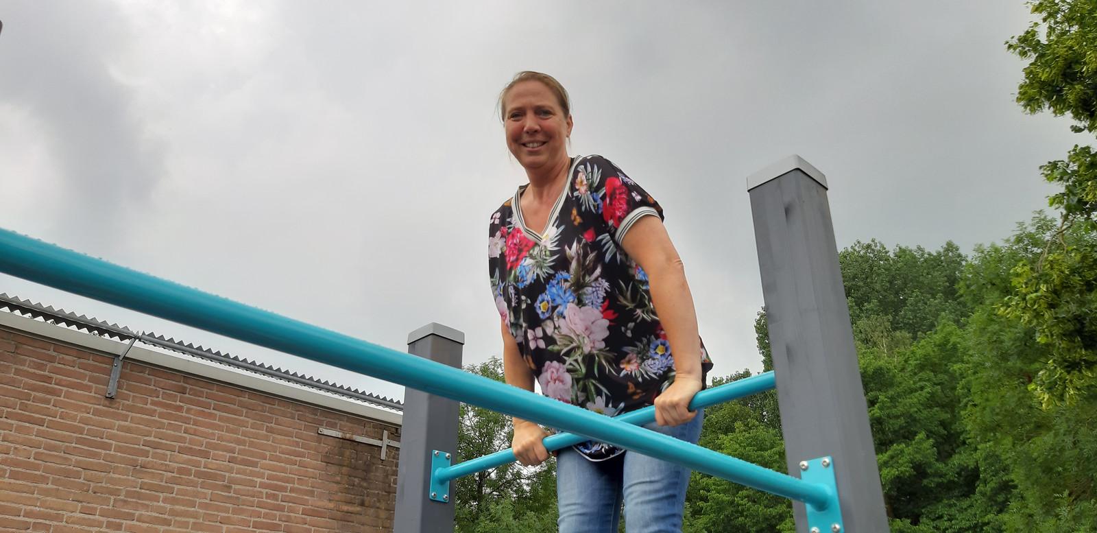 De beweegtuin van de Vincentius Vereniging. Linda van Aken.