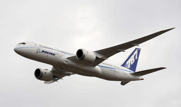 De Boeing Dreamliner 787. Beeld null