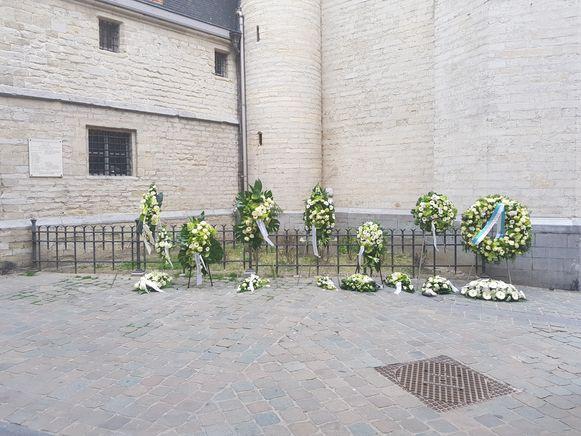 Er is ook een bloemenzone voorzien tijdens de afscheidsplechtigheid van Paul Severs.