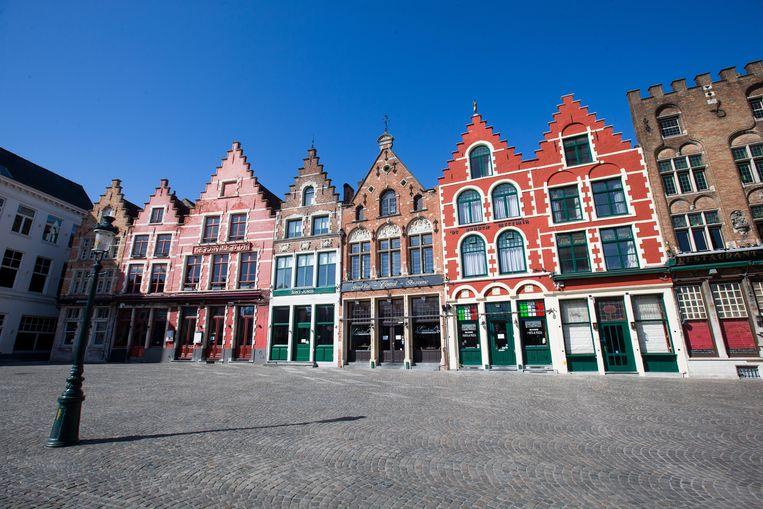 De Markt in Brugge. Beeld EPA