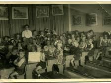 Duizend schoolkinderen vonden lesruimte in pakhuizen, café-zalen en in het schaftlokaal van Nutricia tijdens oorlog