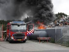 Brand bij recyclingbedrijf Dongen