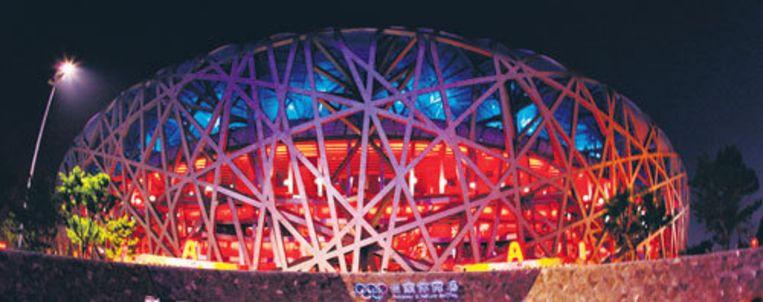 Het nu al iconische Olympisch Stadion in Peking, beter bekend als het vogelnest. Foto GPD Beeld