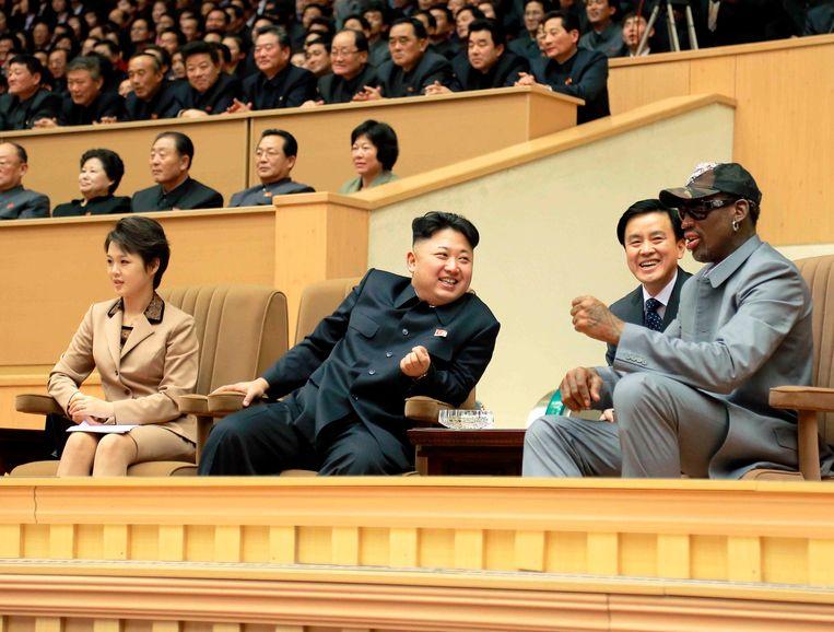 Kim Jong-un en Dennis Rodman