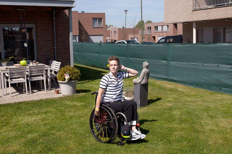Marieke Vervoort leed sinds haar tienerjaren aan een progressieve spierziekte, waardoor ze in een rolstoel terechtkwam. Beeld Lynsey Addario for The New York Times