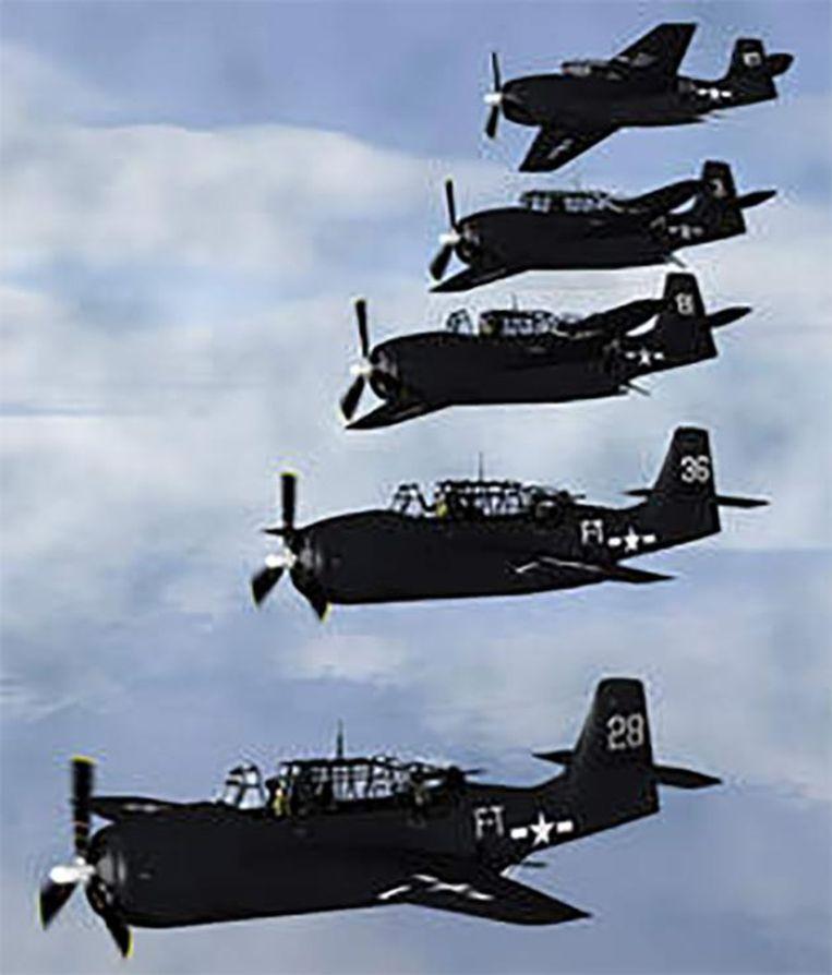 Vlucht 19, vijf Amerikaanse oorlogsvliegtuigen, verdwenen in 1945 spoorloos.