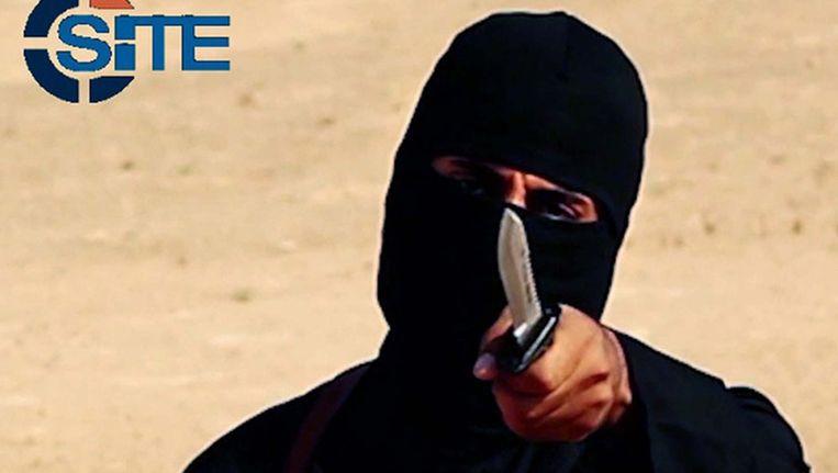 Jihadi John in een van zijn onthoofdingsvideo's.