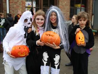Vierde leerjaar van Het Beverbos al helemaal in Halloweensfeer