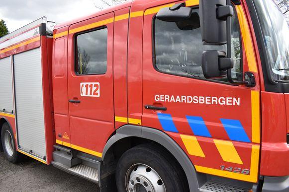 Brandweer Geraardsbergen werd opgeroepen om de restanten van het dier op te ruimen.