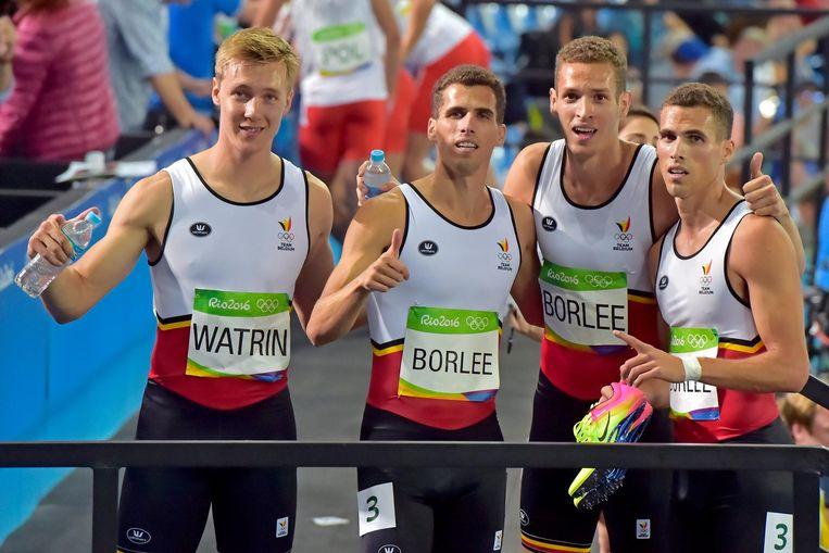 Watrin en de broers Borlée op de Spelen in 2016.