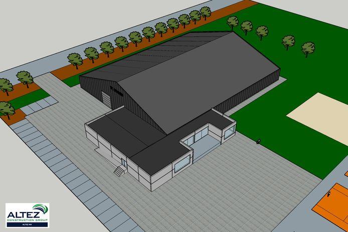 Op de Wankaarde in Staden komt een nieuwe tennishal met drie overdekte terreinen. Aanpalend aan de hal zie het het nieuwe clubhuis.